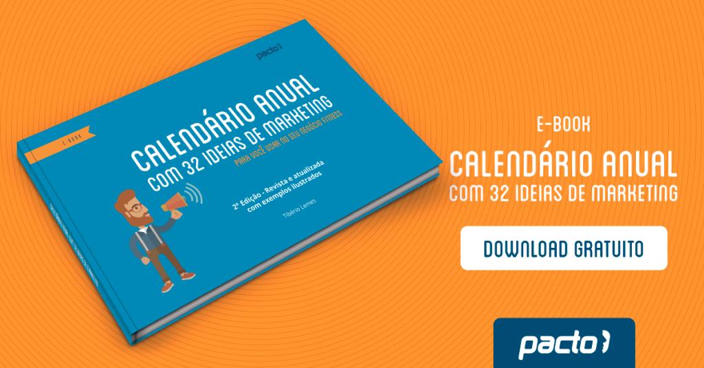 calendário anual com 32 ideias de marketing